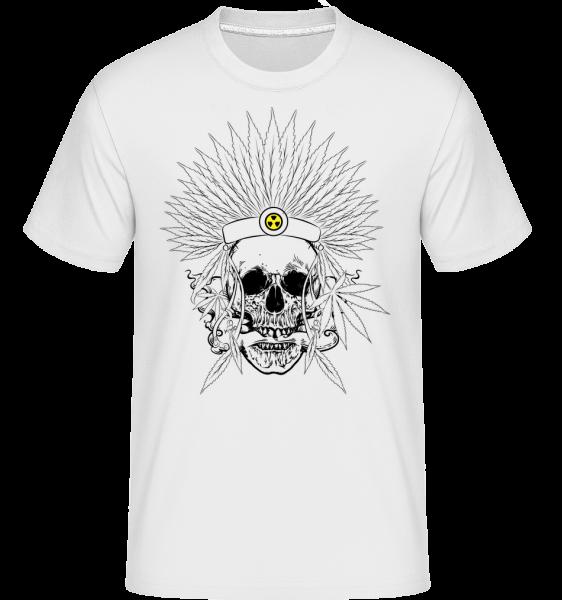 Skull Tattoo -  Shirtinator tričko pro pány - Bílá - Napřed