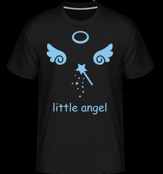Andílek Wings - Shirtinator tričko pro pány - Černá - Napřed