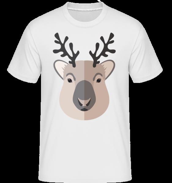 Deer Comic Shadow -  Shirtinator tričko pro pány - Bílá - Napřed
