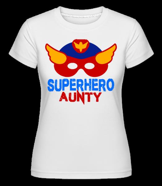 superhrdina tetička - Shirtinator tričko pro dámy - Bílá - Napřed