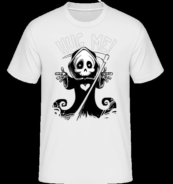 Death chci to Hug -  Shirtinator tričko pro pány - Bílá - Napřed