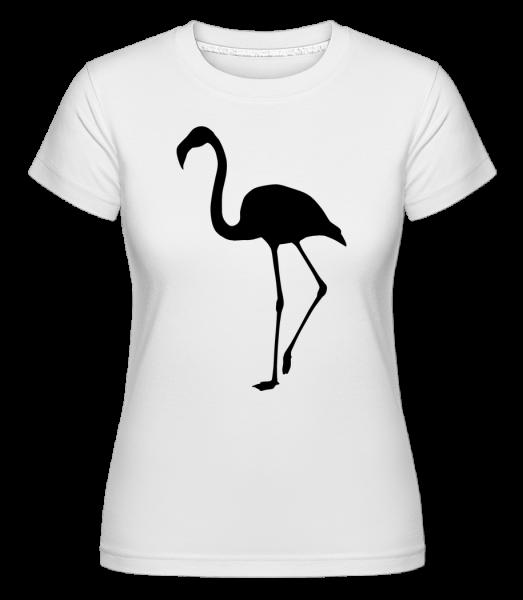 Flamingo Shadow -  Shirtinator tričko pro dámy - Bílá - Napřed