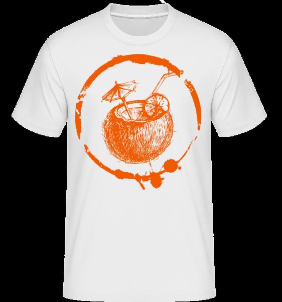 prázdniny Cocktail -  Shirtinator tričko pro pány - Bílá - Napřed