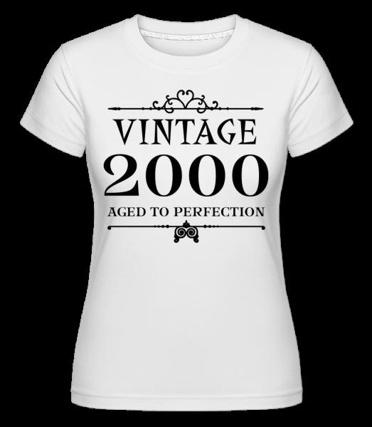 Vintage 2000 Perfection -  Shirtinator tričko pro dámy - Bílá - Napřed