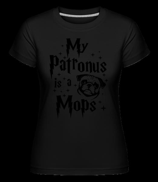 My Patronus Is A Mops -  Shirtinator tričko pro dámy - Černá - Napřed