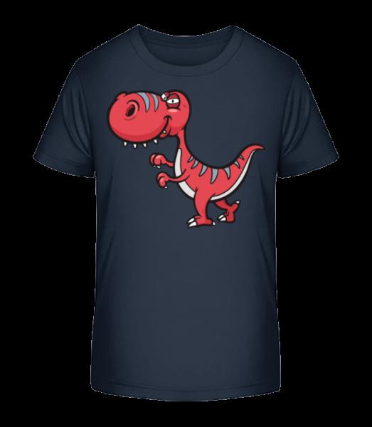 Funny Cartoon Dinosaur - Detské Premium Bio tričko - Namořnická modrá - Napřed