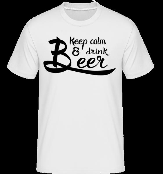 Buď v klidu a pij pivo -  Shirtinator tričko pro pány - Bílá - Napřed
