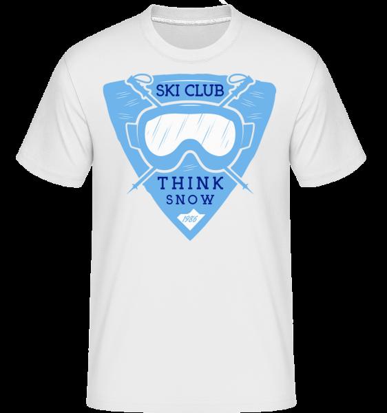 Ski Club Think sníh -  Shirtinator tričko pro pány - Bílá - Napřed