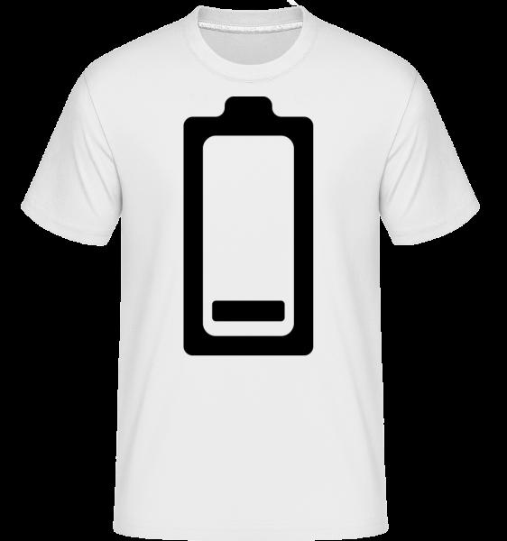 Vybitá baterie Icon -  Shirtinator tričko pro pány - Bílá - Napřed