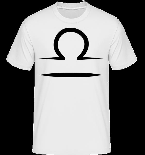 Libra znamení -  Shirtinator tričko pro pány - Bílá - Napřed