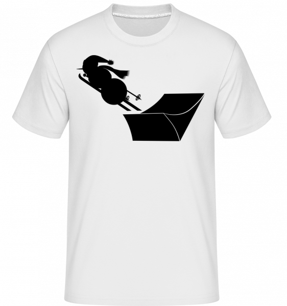 Ski Snowman Black - Shirtinator tričko pro pány - Bílá - Napřed