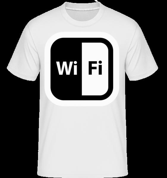 WiFi Icon Black / White -  Shirtinator tričko pro pány - Bílá - Napřed