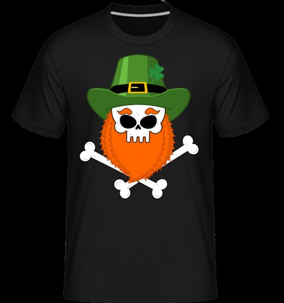 irish Skull -  Shirtinator tričko pro pány - Černá - Napřed
