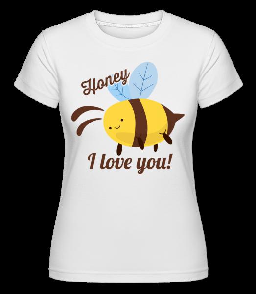 Zlato Miluji tě -  Shirtinator tričko pro dámy - Bílá - Napřed