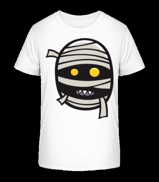 karikatura Mumie - Detské Premium Bio tričko - Bílá - Napřed