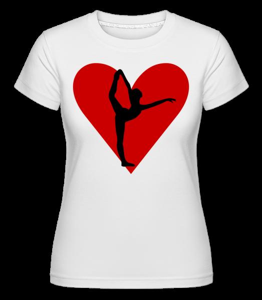Yoga Heart -  Shirtinator tričko pro dámy - Bílá - Napřed