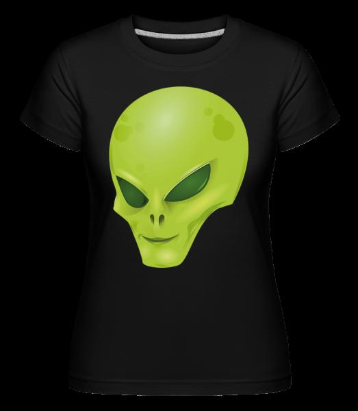 Alien Head -  Shirtinator tričko pro dámy - Černá - Napřed
