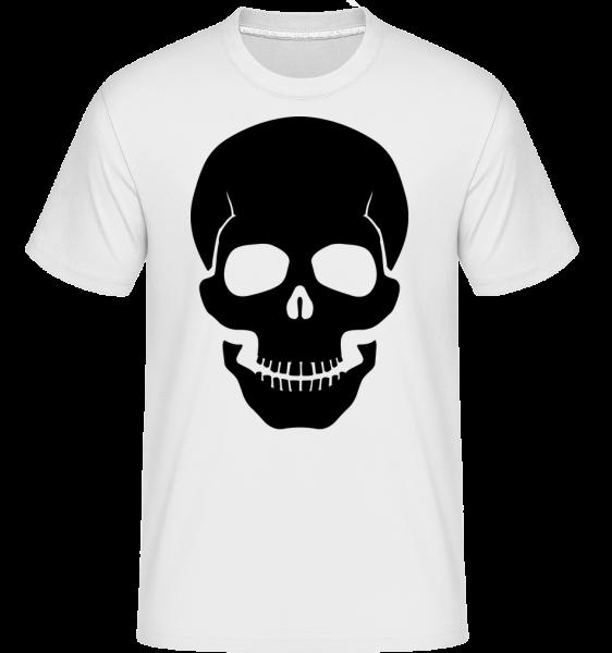 Skull Black -  Shirtinator tričko pro pány - Bílá - Napřed