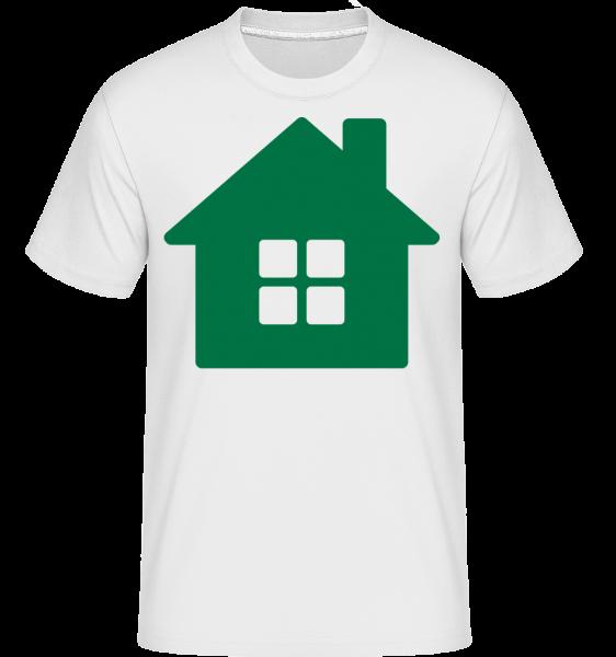 House Icon Green - Shirtinator tričko pro pány - Bílá - Napřed