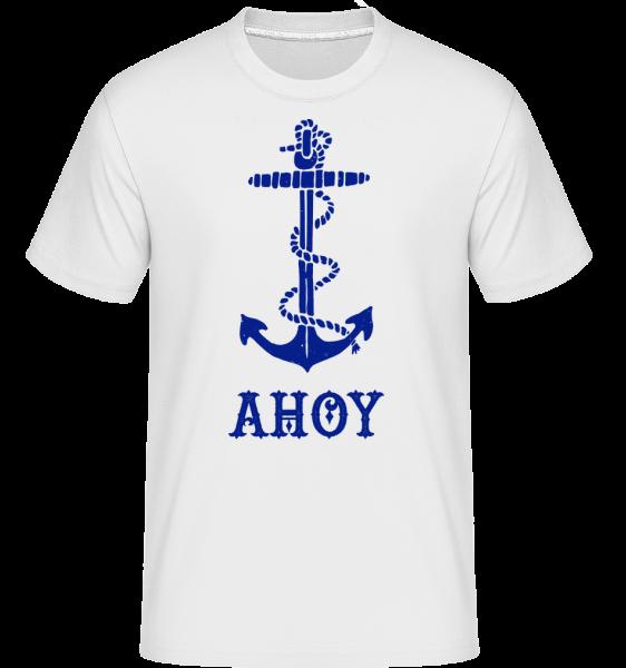 Ahoy Anchor - Shirtinator tričko pro pány - Bílá - Napřed