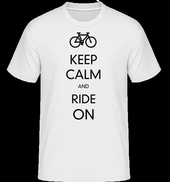 Mírněte se a jezdit dál -  Shirtinator tričko pro pány - Bílá - Napřed