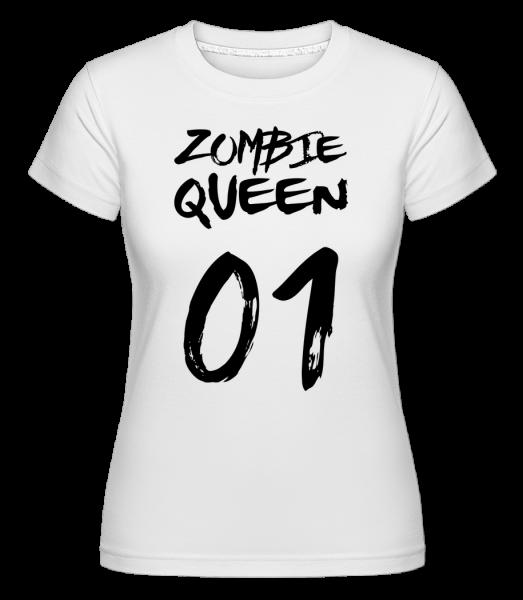 Zombie královna -  Shirtinator tričko pro dámy - Bílá - Napřed