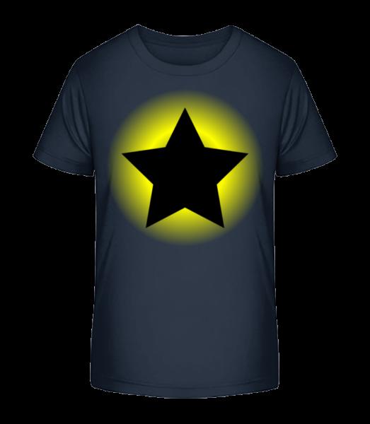 Zářící hvězda - Detské Premium Bio tričko - Namořnická modrá - Napřed