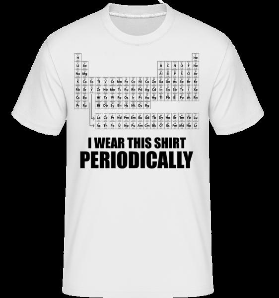 I nosit pravidelně jej -  Shirtinator tričko pro pány - Bílá - Napřed