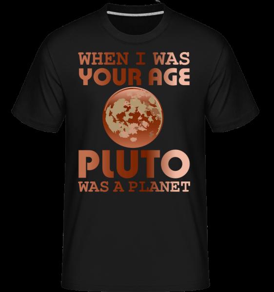 Když jsem byl v tvém věku -  Shirtinator tričko pro pány - Černá - Napřed
