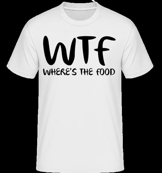 WTF Kde je jídlo -  Shirtinator tričko pro pány - Bílá - Napřed