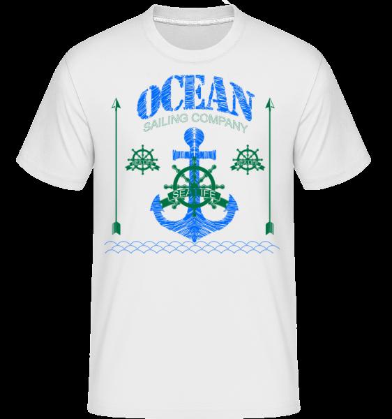 Sailing Company Sign -  Shirtinator tričko pro pány - Bílá - Napřed