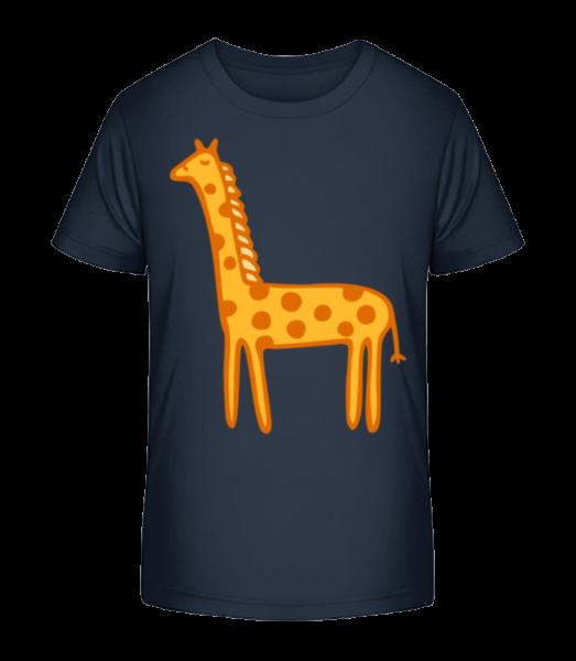 Kids Comic - Giraffe - Detské Premium Bio tričko - Namořnická modrá - Napřed