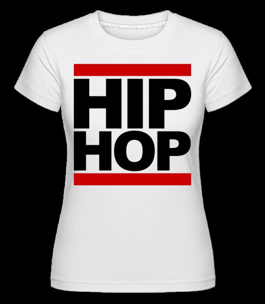 Hip Hop Logo - Shirtinator tričko pro dámy - Bílá - Napřed