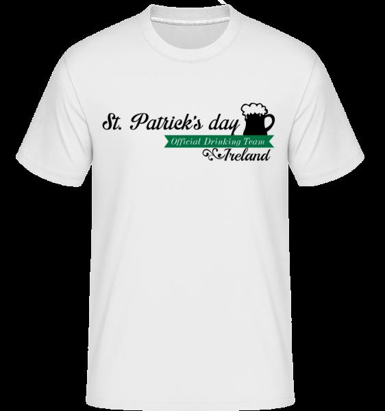 St. Patrick's Day Logo - Shirtinator tričko pro pány - Bílá - Napřed