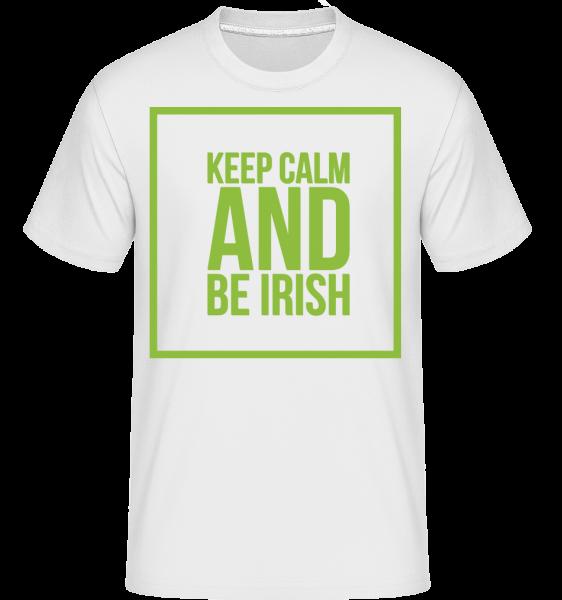 Keep Calm And Be Irish Logo -  Shirtinator tričko pro pány - Bílá - Napřed