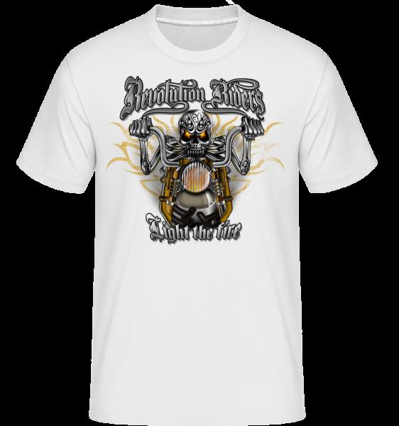 Revolution Riders -  Shirtinator tričko pro pány - Bílá - Napřed
