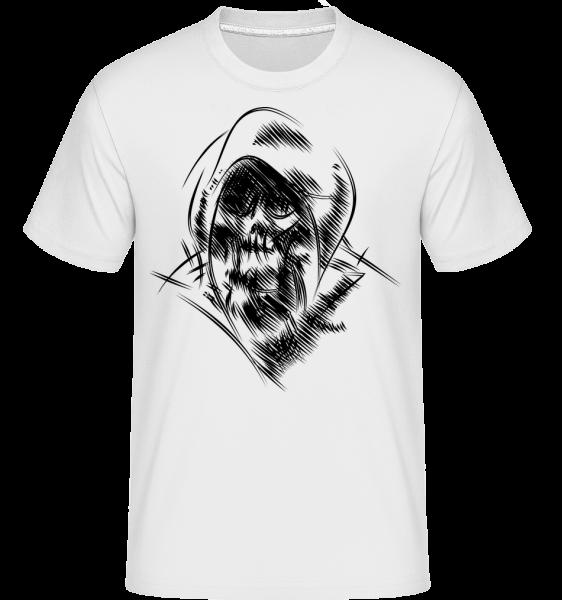 Gothic Skull -  Shirtinator tričko pro pány - Bílá - Napřed