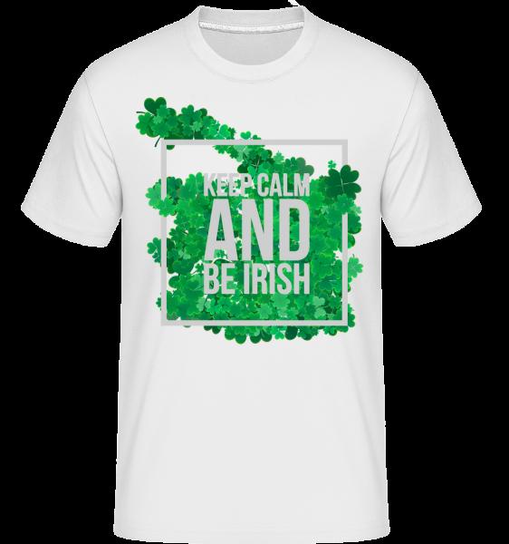 Zachovat klid a být Irish Logo -  Shirtinator tričko pro pány - Bílá - Napřed