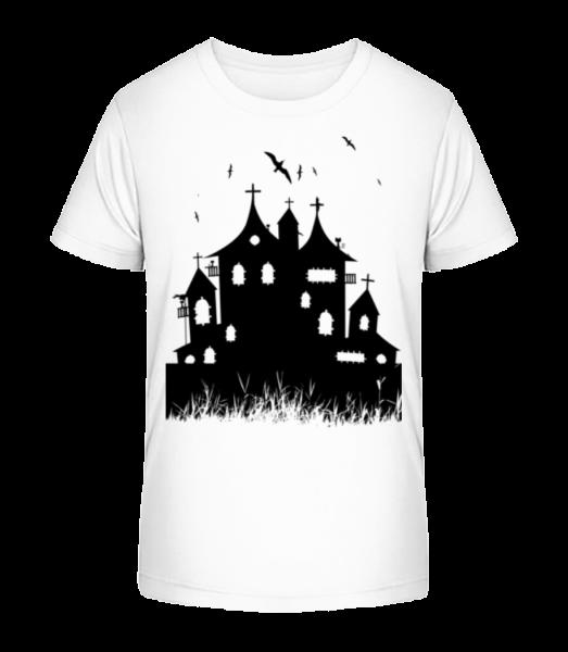 Castle Halloween - Detské Premium Bio tričko - Bílá - Napřed