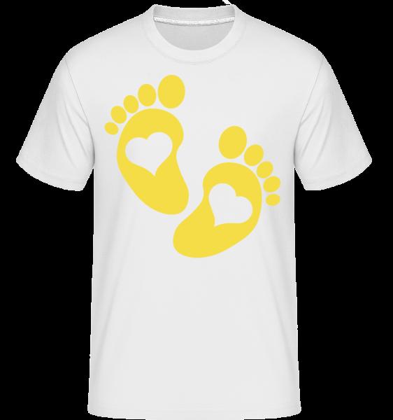 Baby Feet -  Shirtinator tričko pro pány - Bílá - Napřed