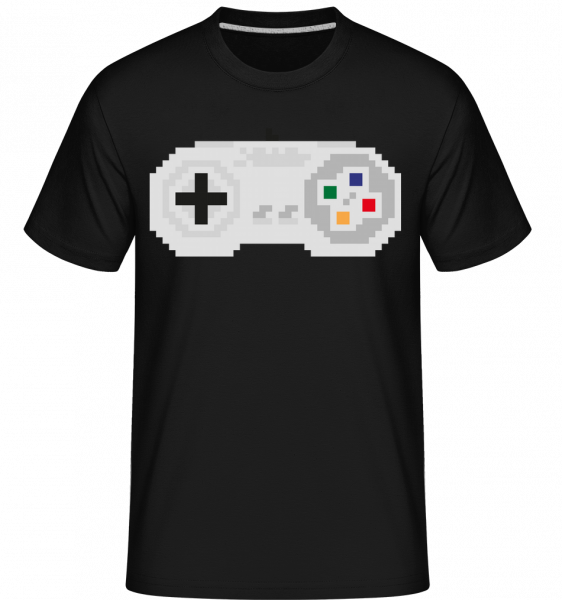 Konzole Controller Oldschool -  Shirtinator tričko pro pány - Černá - Napřed