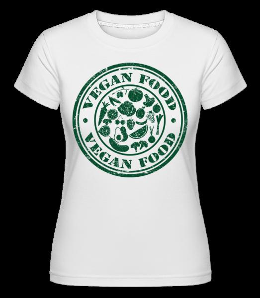 Vegan Food Sign -  Shirtinator tričko pro dámy - Bílá - Napřed