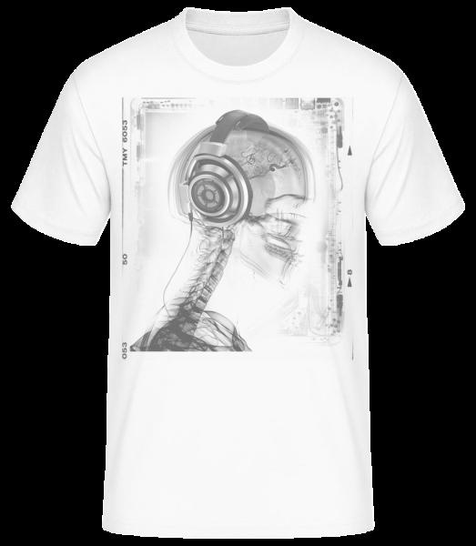 kostra Music - Pánské basic tričko - Bílá - Napřed