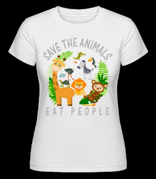 Save The Animals -  Shirtinator tričko pro dámy - Bílá - Napřed