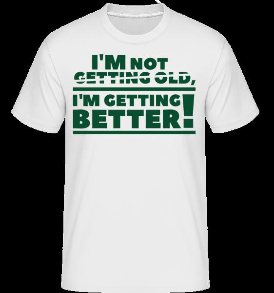 Zlepšuji se! -  Shirtinator tričko pro pány - Bílá - Napřed