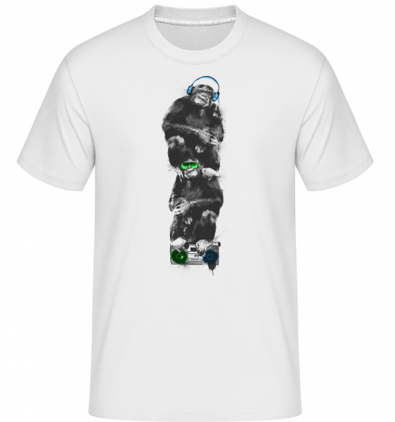 Hudební Monkeys -  Shirtinator tričko pro pány - Bílá - Napřed