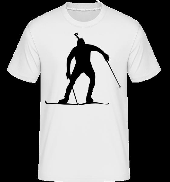 Lyžař - Shirtinator tričko pro pány - Bílá - Napřed