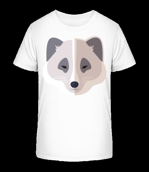 Racoon Comic Stín - Detské Premium Bio tričko - Bílá - Napřed