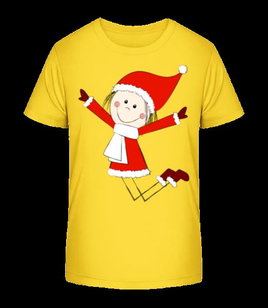 Christmas Girl - Detské Premium Bio tričko - Žlutá - Napřed