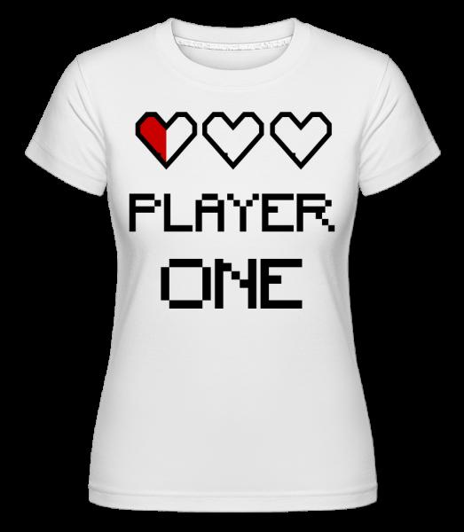 Player One - Shirtinator tričko pro dámy - Bílá - Napřed